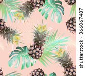 pineapple tropical seamless... | Shutterstock . vector #366067487