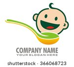 spoonful baby happy funny... | Shutterstock .eps vector #366068723
