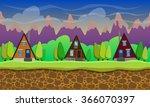 seamless cartoon landscape...   Shutterstock .eps vector #366070397