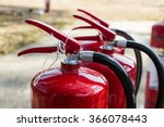 close up latch and pin of red... | Shutterstock . vector #366078443