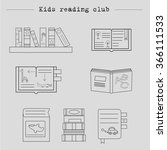 vector symbols of reading and... | Shutterstock .eps vector #366111533