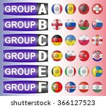 flags football championship are ... | Shutterstock .eps vector #366127523