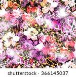 Leopard Flower Skin Pattern...
