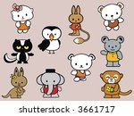 collection of stuffed animal... | Shutterstock . vector #3661717