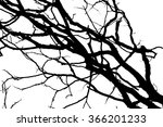 branch silhouette on a white...   Shutterstock . vector #366201233