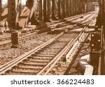 Detail Of Railway Railroad...