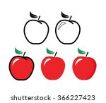 Red Apple   Vector Illustratio...