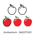 red apple   vector illustration ...