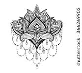 ornamental lotus  ethnic... | Shutterstock . vector #366269903