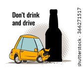 don't drink and drive concept.... | Shutterstock .eps vector #366271517