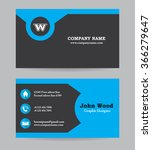 modern business card template... | Shutterstock .eps vector #366279647