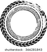tire track vector round border...   Shutterstock .eps vector #366281843