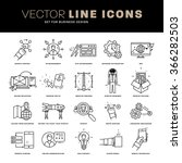 thin line icons set. business... | Shutterstock .eps vector #366282503
