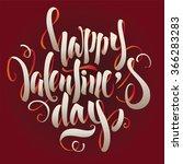 valentine's day lettering vector | Shutterstock .eps vector #366283283