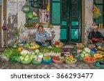 hanoi old quarters  vietnam  ... | Shutterstock . vector #366293477