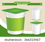 plastic container for yogurt ... | Shutterstock .eps vector #366315467