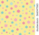 cute seamless stars pattern.... | Shutterstock .eps vector #366347063