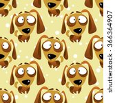 cartoon dogs seamless pattern... | Shutterstock .eps vector #366364907