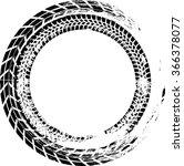 tire track vector round border... | Shutterstock .eps vector #366378077