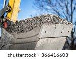 excavator bucket with gravel ... | Shutterstock . vector #366416603