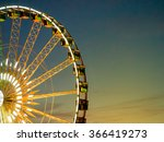 detail and silhouette of ferris ... | Shutterstock . vector #366419273