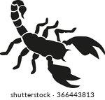 scorpion silhouette | Shutterstock .eps vector #366443813