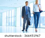 smiling successful business... | Shutterstock . vector #366451967