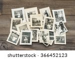 old family photos on wooden... | Shutterstock . vector #366452123