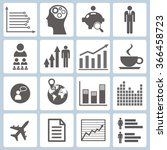 set of graphs and icons | Shutterstock .eps vector #366458723