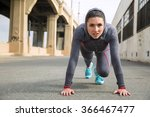 strong athletic toned female... | Shutterstock . vector #366467477
