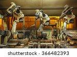 robots welding team in the... | Shutterstock . vector #366482393