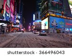 Times Sq New York Snow  Snow...