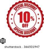 special discount 10  off stamp...