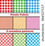 set of nine samples checkered... | Shutterstock . vector #366527117