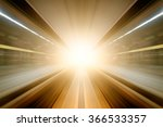 automated guide way train at... | Shutterstock . vector #366533357