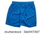 blue running shorts isolated on ... | Shutterstock . vector #366547307