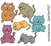vector set of cat | Shutterstock .eps vector #366564707