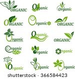 green organic symbol | Shutterstock .eps vector #366584423