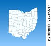 map of ohio | Shutterstock .eps vector #366593057