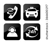 taxi  icons set | Shutterstock .eps vector #366600197