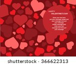 valentine's  day background... | Shutterstock .eps vector #366622313