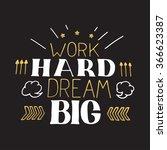 concept hand lettering... | Shutterstock .eps vector #366623387