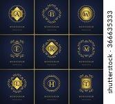 monogram design elements ... | Shutterstock .eps vector #366635333