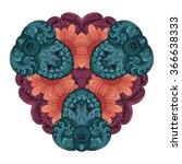 vector beautiful deco colored... | Shutterstock .eps vector #366638333