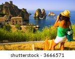 attractive girl taking... | Shutterstock . vector #3666571