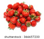Strawberry Pile Isolated On...