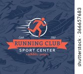 running club logo template.... | Shutterstock .eps vector #366657683