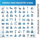 energy and industry icon set... | Shutterstock .eps vector #366660743