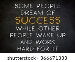 success quote   work hard for... | Shutterstock . vector #366671333