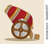 cannon theme elements | Shutterstock .eps vector #366681047